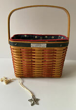 New ListingLongaberger 2001 Collectors Club Whistle-Stop Basket, Liner, Protector & Tie-On