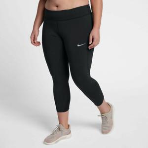New Nike Women's Plus Size Croppes Leggings XXXL /zip pocket/ black/ stretchy