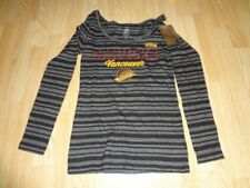 Women s Vancouver Canucks S NWT CCM L S T-Shirt Tee (Striped) f23dc3113