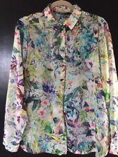 Women's Zara Blue/GreenPattern Shirt - Size XL