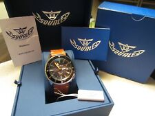 Squale Matic 600 44mm Automatic Wind Dive Watch w/Squale Leather Strap