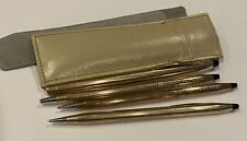 Vtg 12k 10k Gold Cross Pen Marker Mechanical Pencils 1/20 Filled 70 G Engraved