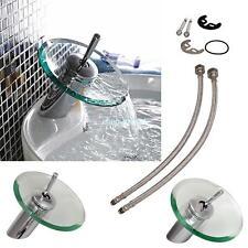 rubinetto lavabo bagno vetro cascata miscelatore cromato single lever famiglia