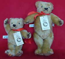 Vintage Set Of 2 Toy Bears Merrythought Lim Ed 376/1,000 ( Made in England)