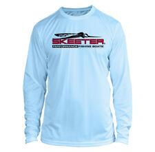 Skeeter Boats Long Sleeve Microfiber Upf Fishing Shirt Arctic Blue
