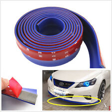 2.5m BLUE Car Front Bumper Spoiler Lip Kit Splitter Valance Chin Protector Kits