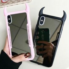 Luxury Clear Mirror 3D Devil Horn Cover Phone Case for iPhone X XR XS MAX 7 8