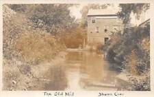 SHARON, CT ~ THE OLD MILL ~ REAL PHOTO POST CARD ~ c. 1910s
