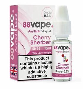 88 Vape E-Liquid 70/30 50/50 Vaping Juice 6mg 11mg 16mg Pack Of 20 All Flavours