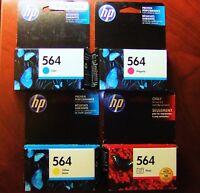 4-Pack HP 564 Photo Cyan Magenta Yellow Color Ink New PhotoSmart OEM Genuine