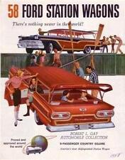 1958 Ford Station Wagon Sales Folder Literature Dealer Advertisement Features