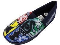 Boys black Harry Potter Slippers Hogwarts Character House Slipper Shoes