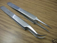 4 PC O.R GRADE SWISS JEWELER STYLE FORCEPS TWEEZERS 4.5