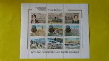 REPUBBLICA ITALIANA 1995 FOGLIETTO AVVENIMENTI STORICI II GUERRA MONDIALE  T112