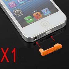 Stopper Antipolvere Doppio Cuffie Dock Anti Dust Arancione per Iphone 5 5S 5C SE