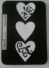Sizzix Sizzlits HEARTS #13 Medium Die Cutter Fits Cuttlebug & Big Shot