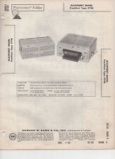 Blaupunkt  Frankfurt 9798 Car Radio-Photofact Manual Free Shipping