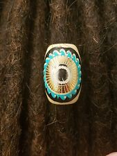 Wood turquoise dreadlock bead 10 mm hole dreaf accessories dread jewelry loc.