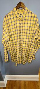 Patagonia Mustard Yellow Long Sleeve Flannel Button Up Men's Shirt XL EUC LN