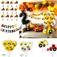 12'' Gold Balloon Truck Cake Topper Engineering Truck Theme Birthday Party Decor