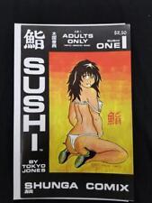 RARE Sushi #1 One NM Shunga Comix Tokyo Jones Adults Only 1989 Comics