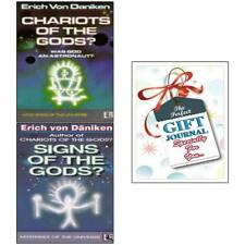 Erich Von Daniken Collection Signs of The Gods Chariots 2books With Gift Journal