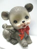 Vintage Napcoware Napco Bear Cub with Bow Planter C 6436 Nursery Baby Shower