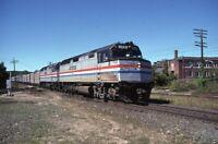 AMTRAK Railroad Train Locomotive 269 PALMER MA Original 1980 Photo Slide