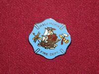 VINTAGE PIN PINBACK HALFMOON FIRE DEPARTMENT