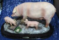 Great Juliana Collection Pig Sow and piglets on base approx 12 ins Long