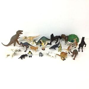 Assorted Animal / Dinosaurs Figurines Small Plastic Toys Schleich & CollectA#323