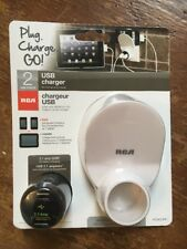 Plug Charge GO! USB Charger Smart Phone Cell Phone Tablet New In Plastic