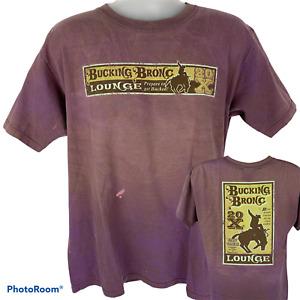 Vintage Wrangler Bucking Bronc Lounge Large T Shirt Cowboy Bronco 20X Rodeo Tee