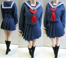 """1/6 Female Student Dress Costume Clothes Set For 12"""" Girl Action Figure Body 35#"""