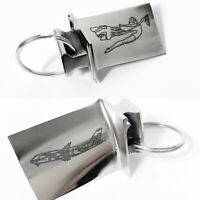 Virgin Atlantic Boeing 747-400 Engraved Rolls Royce Keyring