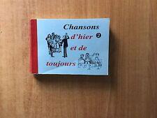 CHANSONS D'HIER ET DE TOUJOURS 2