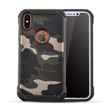 For iphone X Case Camouflage Army Military Camo Shockproof Armor Tactical Cover