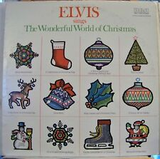 """""""Elvis sings The Wonderful World of Christmas"""" LP Record 1975 RE Excellent Cond."""