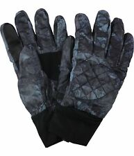 Isotoner Mens Quilted Smart Touch Gloves, Blue, S/M