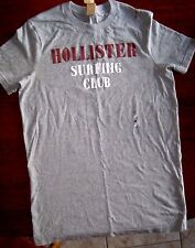 Hollister T-shirt Mens MEDIUM White or Gray NEW Embroidery Surf Beach shirts