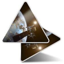 2 x Triangle Stickers 10 cm - Satellite Earth Space NASA  #2402