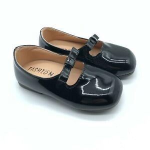 Fashion Toddler Girls Mary Jane Flats Faux Leather Bow Slip On Black 26 US 7