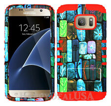 KoolKase Hybrid Silicone Cover Case for Samsung Galaxy S7 - Design Stone 11