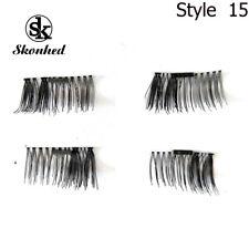 4PCS Magnetic False Eyelashes Mink Handmade Extension No Glue Eye Lashes Makeup