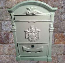 Briefkasten Wand Alu weiß historische Post Letterbox Vintage für Haus & Hof