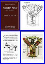 Wolseley Viper Aero Engine Manual on CD (Hispano-Suiza)