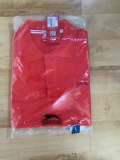 Mens Slazenger Plain Polo Tshirt - Red  - S Large Brand new with tags