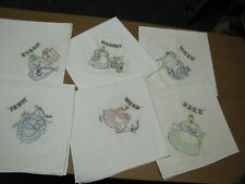 Mammy Embroidered Cotton Dish Towels Set of 6