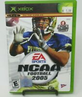 NCAA FOOTBALL 2005 GAME FOR MICROSOFT XBOX, GAME DISC, CASE, MANUAL, EA SPORTS