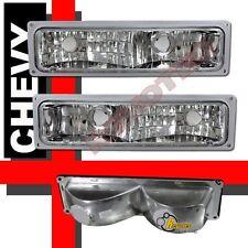 88-98 Chevy GMC C/K C10 1500 2500 3500 Pickup Chrome Bumper Parking Lights Lamps